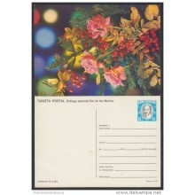 1988-EP-28 CUBA 1988. Ed.144j. MOTHER DAY SPECIAL DELIVERY. POSTAL STATIONERY. ROSAS. ROSES. FLORES. FLOWERS. UNUSED.