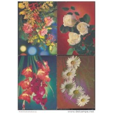 1988-EP-45 CUBA 1988. Ed.144h. MOTHER DAY SPECIAL DELIVERY. POSTAL STATIONERY. SET 10-10. FLORES. FLOWERS. USED.