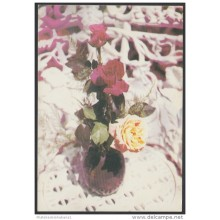 1989-EP-44 CUBA 1989. Ed.146a. MOTHER DAY SPECIAL DELIVERY. POSTAL STATIONERY. ROSES. FLOWERS. UNUSED.