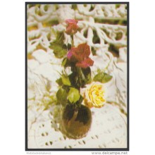 1989-EP-45 CUBA 1989. Ed.146a. MOTHER DAY SPECIAL DELIVERY. POSTAL STATIONERY. ROSES. FLOWERS. USED.