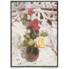 1989-EP-46 CUBA 1989. Ed.146a. MOTHER DAY SPECIAL DELIVERY. POSTAL STATIONERY. ROSES. FLOWERS. CANCELADO. USED.