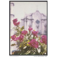 1989-EP-49 CUBA 1989. Ed.146c. MOTHER DAY SPECIAL DELIVERY. POSTAL STATIONERY. ERROR DE CORTE. FLOWERS. USED.