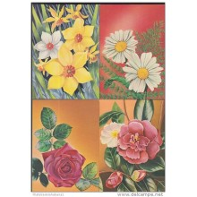 1983-EP-21 CUBA 1983. Ed.133. MOTHER DAY SPECIAL DELIVERY. POSTAL STATIONERY. A. MACEO. SET 9-9. FLORES. FLOWERS. USED.