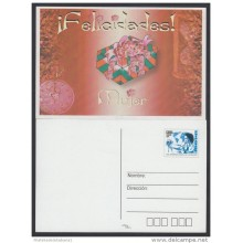 2001-EP-11 CUBA 2001. Ed.56b. INTERNATIONAL WOMEN'S DAY. POSTAL STATIONERY. GIFT. WATCH. FLORES. FLOWERS. UNUSED.