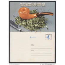 2001-EP-25 CUBA 2001. Ed.58d. FATHER'S DAY. SPECIAL DELIVERY. POSTAL STATIONERY. CACHIMBA. TABACO. TOBACCO. MANCHAS. UNU