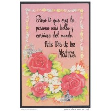 2001-EP-29 CUBA 2001. Ed.57zg. MOTHER DAY SPECIAL DELIVERY. POSTAL STATIONERY. FLORES. ROSAS. ROSES. FLOWERS. USED.