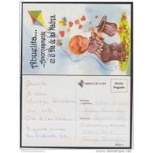 2001-EP-31 CUBA 2001. Ed.57zf. MOTHER DAY SPECIAL DELIVERY. POSTAL STATIONERY. NIÑO MAGO. CHILDREN. MAGICIAN. FLOWERS. U
