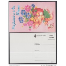 2001-EP-34 CUBA 2001. Ed.57za. MOTHER DAY SPECIAL DELIVERY. POSTAL STATIONERY. GATO. CAT. JARRON DE FLORES. FLOWERS. UNU