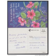 2001-EP-40 CUBA 2001. Ed.57x. MOTHER DAY SPECIAL DELIVERY. POSTAL STATIONERY. MARIPOSAS. BUTTERFLIES. FLORES. FLOWERS. U