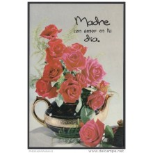 2001-EP-45 CUBA 2001. Ed.57t. MOTHER DAY SPECIAL DELIVERY. POSTAL STATIONERY. TETERA CON ROSAS ROJAS. ROSES. FLORES. FLO