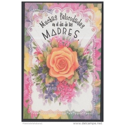 2001-EP-43 CUBA 2001. Ed.57u. MOTHER DAY SPECIAL DELIVERY. POSTAL STATIONERY. ROSA NARANJA. ROSES. FLORES. FLOWERS. UNUS
