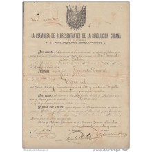 *BE300 CUBA INDEPENDENCE WAR CORONEL JOSE GALVES (MILITAR LIVE DOCS) 1898