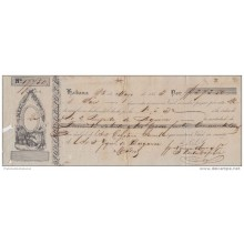 E1126 CUBA SPAIN ESPAÑA OLD DOC. NORIEGA Y OLMO BANK CHECK 1853