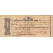 E1127 CUBA SPAIN ESPAÑA OLD DOC. DEMESTRE BANK CHECK & Co. 1866