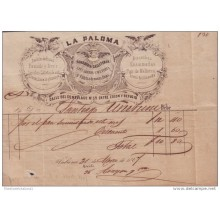 E1145 CUBA ESPAÑA SPAIN ILLUSTRATED INVOICE BAKERY 1867