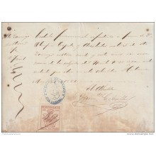 E1292 CUBA ANTILLES ANTILLAS SPANISH COLONIES HAVANA SPAIN ESPAÑA REVENUE POLICE 1881