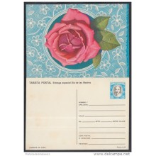 1984-EP-20 CUBA 1984. Ed.134a. MOTHER DAY SPECIAL DELIVERY. POSTAL STATIONERY. A. MACEO. FLORES. FLOWERS. UNUSED.