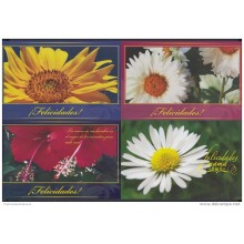 2009-EP-6 CUBA 2009. Ed. MOTHER DAY SPECIAL DELIVERY. POSTAL STATIONERY. SET 40-40. FLORES. ROSAS. FLOWERS. UNUSED.