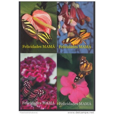 2006-EP-1 CUBA 2006. Ed. MOTHER DAY SPECIAL DELIVERY. POSTAL STATIONERY. SET 35-35. FLORES. ROSAS. FLOWERS. USED.