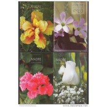 2008-EP-6 CUBA 2008. Ed. MOTHER DAY SPECIAL DELIVERY. POSTAL STATIONERY. SET 40-40. FLORES. ROSAS. FLOWERS. USED.