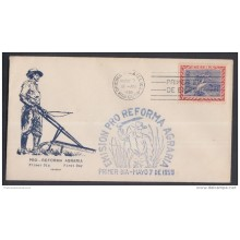 1959-FDC-56 CUBA. FDC. 1959. EMISION PRO REFORMA AGRARIA. CACHET LILY. SEMIPOSTAL.