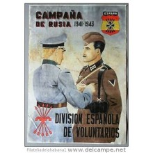 *JK309 SPAIN ESPAÑA DIVISION AZUL RUSSIA GERMANY. 42x29cm. SOLDIER &amp RUSSIA CAMP