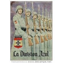 *JK394 SPAIN ESPAÑA POSTER 20 x 29 cm. RUSSIA GERMANY. DIVISION AZUL. SOLDIERS