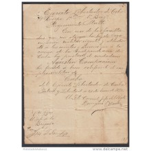 *BE474 CUBA INDEPENDENCE WAR CORONEL BENIGNO ALONSO RIVERO SIGNED DOC 1898