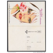 1997-EP-22 CUBA 1996. Ed.5d. INTERNATIONAL WOMEN'S DAY. POSTAL STATIONERY. FLORES. FLOWERS. UNUSED.