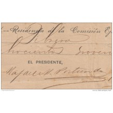 *BE434 CUBA INDEPENDENCE WAR GENERAL RAFAEL PORTUONDO SIGNED DOC 1898