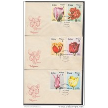 1982-FDC-24 CUBA. FDC. 1982. TULIPANES. TULIPS. FLORES. FLOWERS. NATURE.