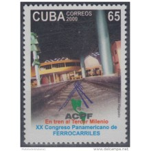 2000.13- * CUBA 2000. MNH. CONGRESO PANAMERICANO FERROCARRIL. RAILROAD. RAILWAYS. TRAIN. LOCOMOTIVE.