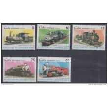 2000.38- * CUBA 2000. MNH. EXPO FILATELICA LONDRES. LONDON. FERROCARRIL. RAILROAD. RAILWAYS. TRAIN. LOCOMOTIVE