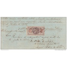 *E682 PORTUGAL SEALLED PAPER 1872 REVENUE