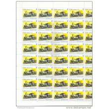 2000.509 CUBA MNH SHEET COMPLETE 2000 RAILROAD TRAIN FERROCARRIL RAILWAYS
