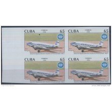 "1994.112 CUBA MNH PROOF ERROR BLOCK. ""50\"""" ERROR AVION AIRPLANE"""