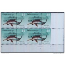 2013.357 CUBA MNH PROOF ERROR BLOCK. IMPERFORATED. DINOSAURS. PREHISTORY.