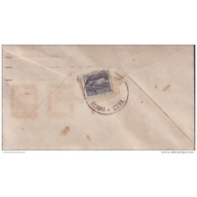 """1951-FDC-50 CUBA 1953 FDC TOBACCO SURCHARGE """"3"""" PLATE NUMBER"""