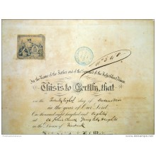 BON107 US ESPAÑA SPAIN CUBA LARGE POSTER MARRIAGE ACT 1892 44x29cm.
