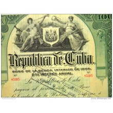 BON112 CUBA 1905 DISCHARGE FROM THE ARMY MAMBI 35x27cm. BONO LICENCIAMIENTO EJERCITO MAMBI. ROLOFF SIGNED