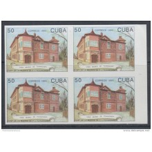 1993.101 CUBA MNH 1993 IMPERFORATED ERROR PROOF. CASA MUSEO DE TCHAIKOVSKY RUSIA. MUSIC BALLET RUSSIA. BLOCK 4.