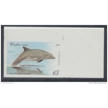 1994.105 CUBA MNH 1994 IMPERFORATED ERROR PROOF. FAUNA DEL CARIBE. FAUNA CARIBBEAN. DELFIN DOLPHINS. EASY.
