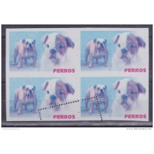 2005.228 CUBA 2005 PROOF ERROR MNH PERROS DOG BULL DOG WITHOUT COLOR