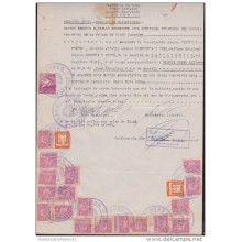 E1788 CUBA JUDICIAL DOC WITH REV STAMPS RETIRO ESCOLAR