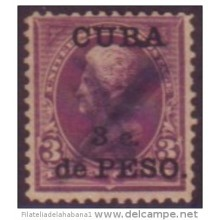 1899-18 CUBA 1899 US OCCUPATION. 3c. ERROR PUNTO ENTRE LA B Y LA A