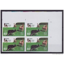 2015.125 CUBA 2015 MNH PROOF IMPERFORATED BLOCK 4 PERRO DOG BORDER COLLIE PASTOR ALEMAN.