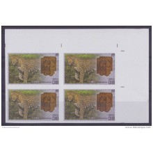 2015.104 CUBA 2015 MNH PROOF IMPERFORATED BLOCK 4 ARCHEOLOGY FELINE FELINOS CAT LEOPARDO.
