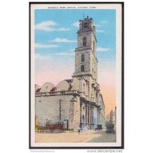 POS-114 CUBA CIRCA 1940 POSTCARD HABANA HAVANA IGLESIA DE SAN FRANCISCO. CHURCH. GENERAL POST OFFICE UNUSED