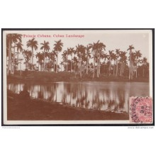 POS-117 CUBA 1931 POSTCARD COUNTRY SCENE IN RIVER. PAISAJE CAMPESTRE CON RIO. UNUSED
