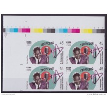 2013.401 CUBA 2013 MNH PROOF IMPERFORATED BLOCK 4 NAT KING COLE MUSIC SINGER